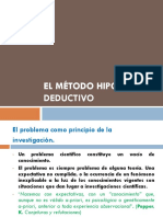 El Metodo Hipotetico Deductivo