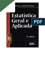 Livro - Estatística Geral e Aplicada Gilberto de Andrade Martins 3ª Edição