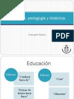 Educacion, Pedagogia y Didactica