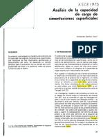 Vesic a. (1973) Analisis de La Capacidad de Carga de Cimentaciones Superficiales