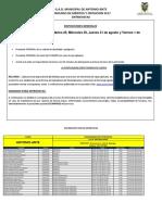 CRONOGRAMA DE ENTREVISTAS GADMAA