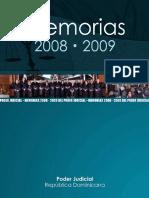 Memorias Poder Judicial 2008-2009