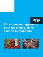 Principaux engagements pour les enfants dans l'Action humanitaire
