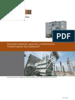Manual de instalacion, operacion y mantenimiento transformadores tipo Subestacion.pdf
