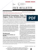 Practice Bulletin Multifetal Gestation
