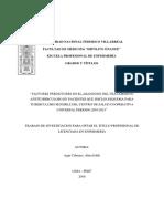 """""""Factores Predictores en El Abandono Del Tratamiento Antituberculoso en Pacientes Que Inician Esquema Para Tuberculosis Sensible Del Centro de Salud Cooperativa Universal Periodo 2010-2015"""""""