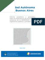 Informe Estadistico Sobre Dispositivos de Prevencion y Asistencia. Sedronar 2016
