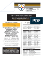Indianapolis Colts At Pittsburgh Steelers (Aug. 26, 2017)