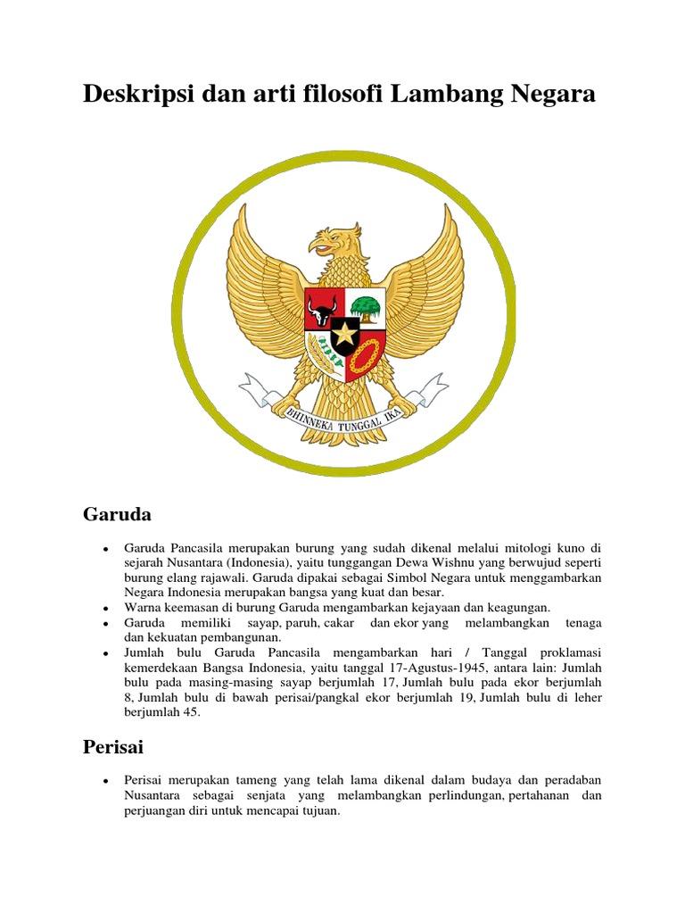 Deskripsi Dan Arti Filosofi Burung Garuda