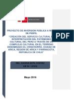 Creación del Servicio Cultural de interpretación del patrimonio cultural del Perú a través de un complejo cultural en el Chinchorro - Arica, Chile.