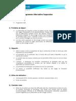 Programme Alternative Suspension