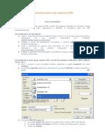 Instruções Para Criar Arquivos PDF