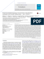 Structural and Physical Property Characterization in TheWenchuan Earthquake Fault Scientific Drilling Project — Hole 1 (WFSD-1)