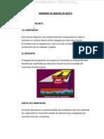 Manual Analisis Aceite Lubricante Motor Muestras Contaminacion Mantenimiento Cambio Verificacion Nivel