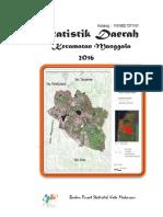 Statistik Daerah Kecamatan Manggala 2016