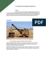Carguio y Transporte en Mineria Superficial
