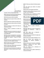 Catálogo NFPA y NTP