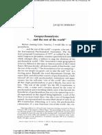 Derrida Geoppolitics Psychoanalysis