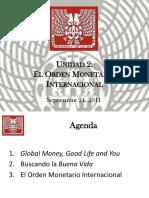 2 El Orden Monetario Internacional