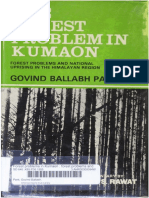 1922 the Forest Problem in Kumaon by Pant
