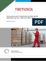 FactuSOL Importacion Excel Calc