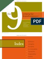 ! 9 Criteria for Brand Essence