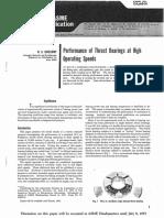 Thrust Bearings at High Operating Speeds