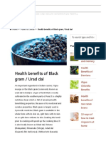Health Benefits of Black Gram _ Urad Dal _ Value Food