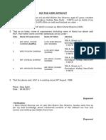 Huf Pan Card Affidavit
