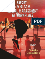 """Garima- Survey report   on Sexual Harassment at workplace"""