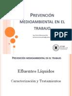 Prevención Medioambiental en El Trabajo - Efluentes Liquidos - 2016