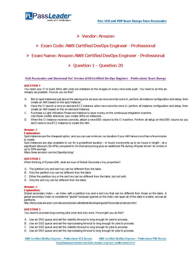 Passleader aws certified devops engineer professional exam dumps passleader aws certified devops engineer professional exam dumps 1 20 amazon web services information technology fandeluxe Images