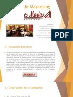 Plan de Marketing - Las Tres Marías