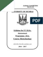 BSc Biotechnology Syllabus