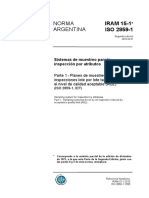 IRAM 15 - Sistema de Muestreo para la inspeccion por atributos.pdf