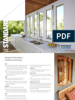 Stegbar Windows Doors Standard Sizes Brochure
