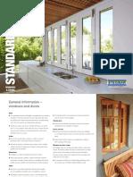 Stegbar Windows Doors Standard Sizes Brochure