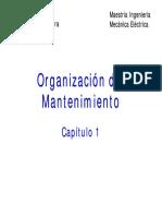 Cap. 1 Organizacion Del Mantenimiento