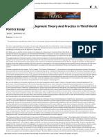 Understanding Development Theory and Practice in Third World Politics Essay