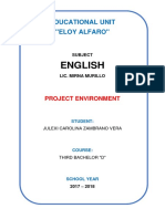 Proyecto Ambiental Ingles