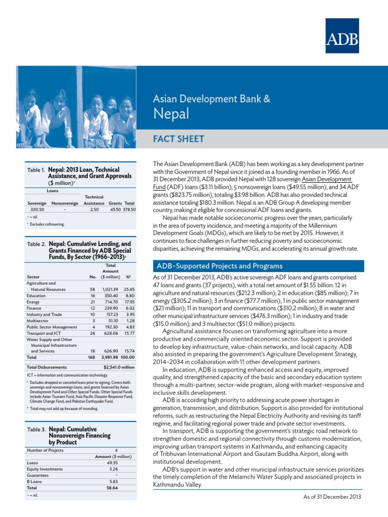 ADB and Nepal-2 | Asian Development Bank | Infrastructure