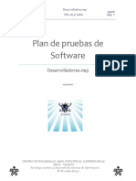 Plan de Pruebas de Software