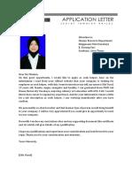Aplication Letter Singgasana