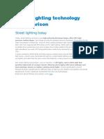 Street lighting technology comparison.doc