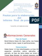 Pautas Para La Elaboracion Informe Pasantías 2-2016