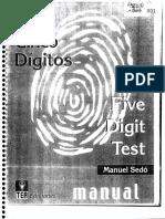 Test de Los Cinco Dígitos
