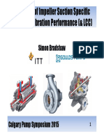 Influence of Impeller Suction Specific Speed on Vibration LCC