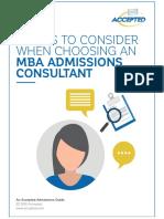 Choosing a Consultant