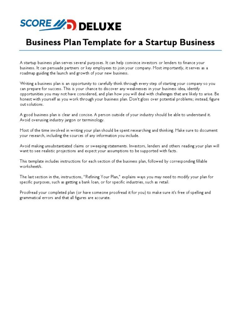 Business plan deluxe