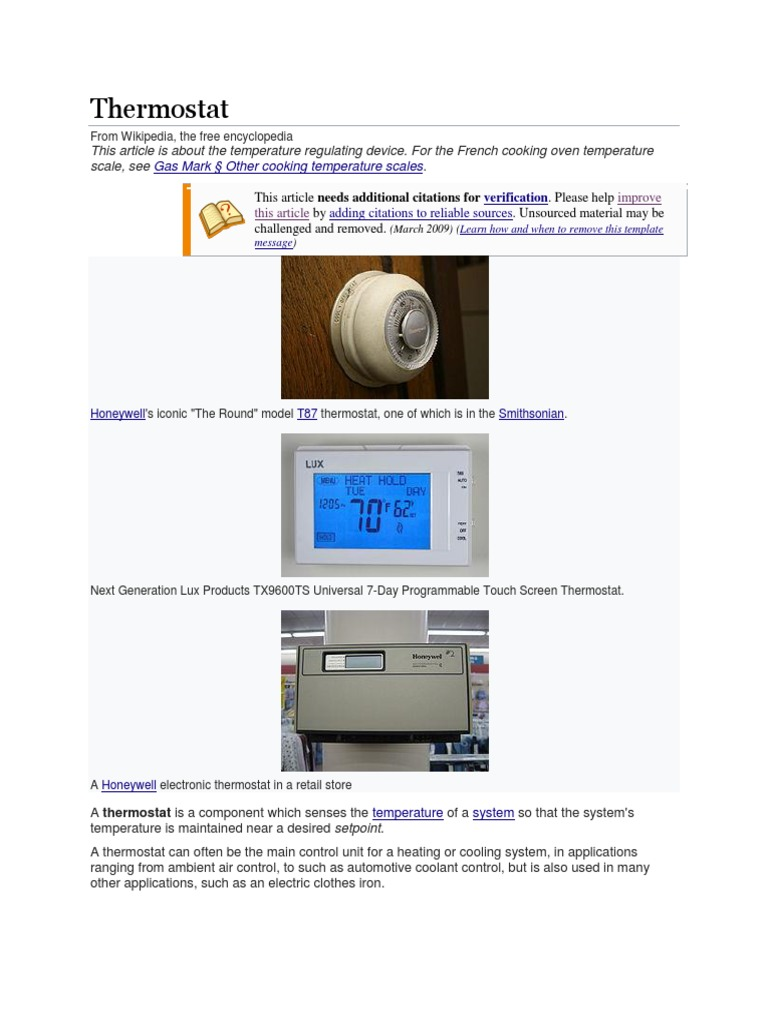 thermostat thermostat heat pump